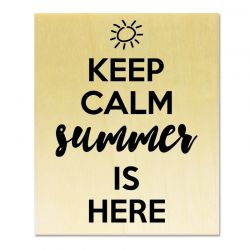 Rubber stamp - Gwen Scrap Collection 3 - Keep calm summer is here
