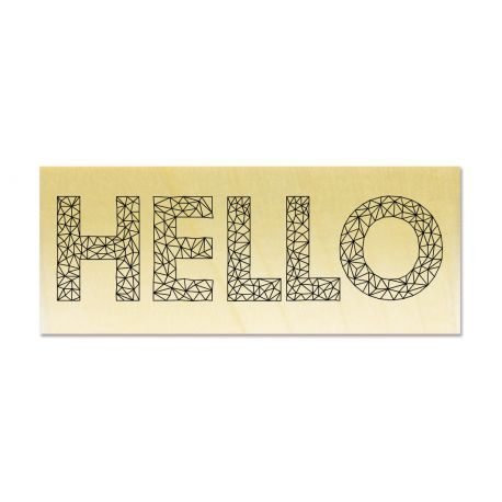 Rubber stamp - Gwen Scrap Collection 3 - HELLO origami style