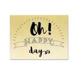 Rubber stamp - Gwen Scrap Collection 3 - Oh ! happy days