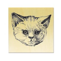 Rubber stamp - Cat's head