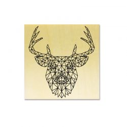 Rubber stamp - Deer Head Lines