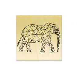 Rubber stamp - Elephant graphical lines