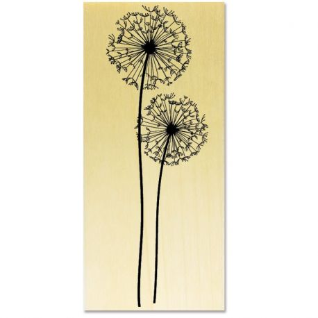 Rubber stamp - Dandelions with stem