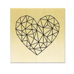 Rubber stamp - Heart graphical lines