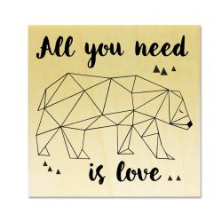 Rubber stamp - Polar Bear All you need is love