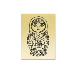 Rubber stamp - Russian doll