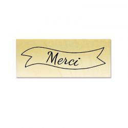 Rubber stamp - Merci banner