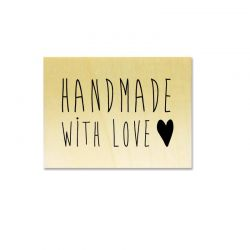 handmade with love heart