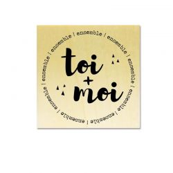 Rubber stamp - Gwen Scrap Collection 2- toi + moi ensemble (circle)