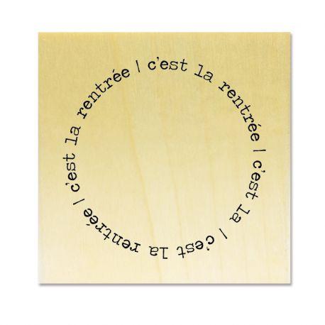 Rubber stamp - Gwen Scrap Collection 4 - c'est la rentrée (circle)