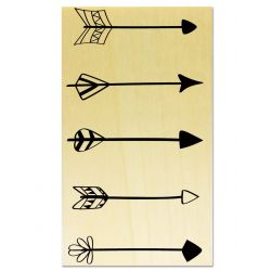 Rubber stamp - 4 arrows