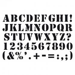 Pochoir Artemio - Alphabet