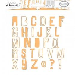 Pochoir Aladine -15 x 15 cm - Alphabet