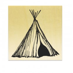 Rubber stamp - Teepee