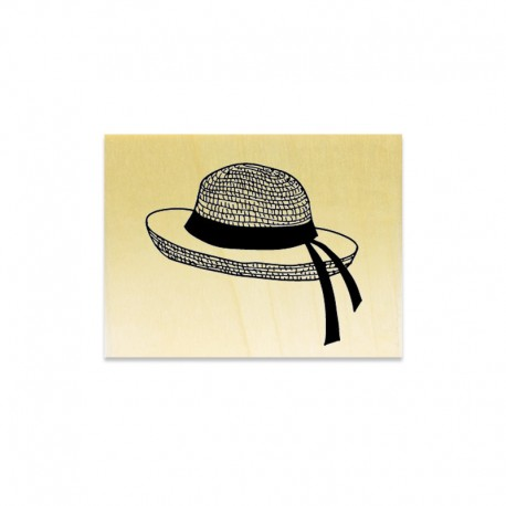 Rubber stamp - Straw hat
