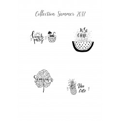 Collection Summer - 4 Tampons ""
