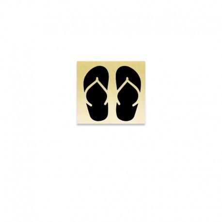Rubber stamp - flip-flop