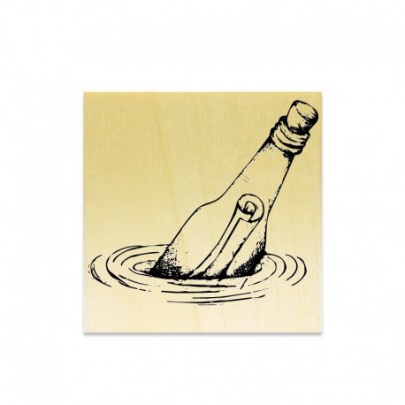 Rubber stamp - Message Bottle