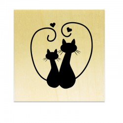 Rubber stamp - Cat's silhouette 6