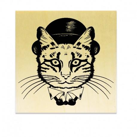 Rubber stamp - Cat with Hat