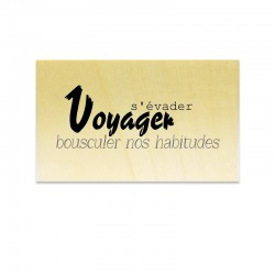 Rubber stamp - Scrapanescence - Voyager s'évader….