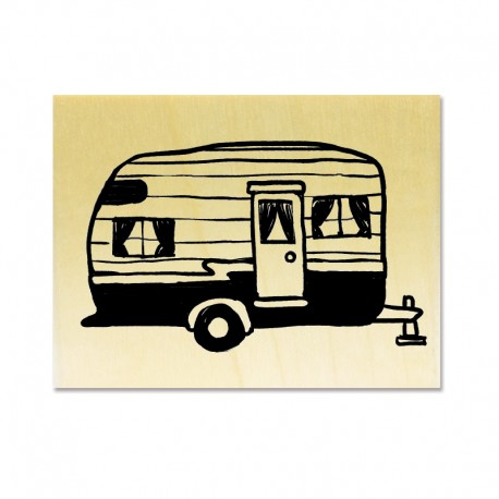 Rubber stamp - Caravan