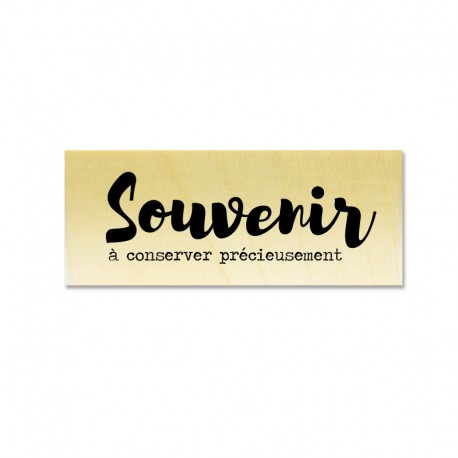 Rubber stamp - Gwen Scrap Collection 2- Souvenir à conserver précieusement