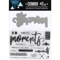 Combo Die & Clear Florilèges Design - Moments