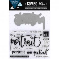 Combo Die & Clear Florilèges Design - Portrait