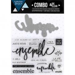 Combo Die & Clear Florilèges Design - Ensemble