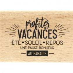 Tampon Bois Florilèges Design - Pause au Paradis