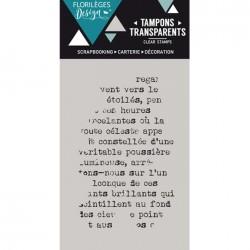Tampon Clear Florilèges Design - Touche de texte
