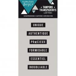 Tampon Clear Florilèges Design - Mini mots 1