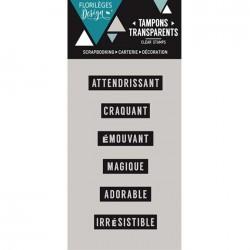 Tampon Clear Florilèges Design - Mini mots 2