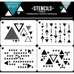 Set de 4 pochoirs Florilèges Design - Mille triangles