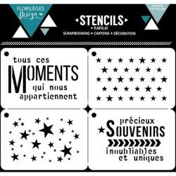 Set de 4 pochoirs Florilèges Design - Moments Etoilés