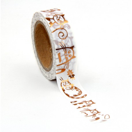 Masking Tape Foil Tape - Chats cuivre