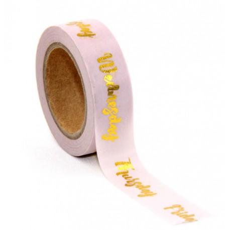 Masking Tape Foil Tape - Monday to Fridya fond rose poudré