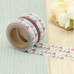 Masking Tape - Fanions Triangles Bleu et Rouge