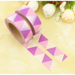 Masking Tape - Triangles Fanions Rose et Mauve