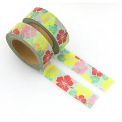 Masking Tape - Fleurs d'hibiscus