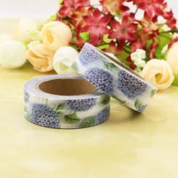 Masking Tape - Fleurs d'hortensia bleus
