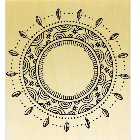 Mandala Rond Feuilles