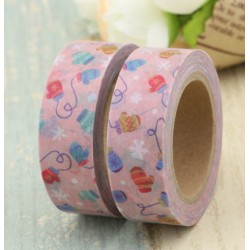 Masking Tape - Moufles fond rose