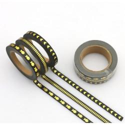Masking Tape Foil Tape - Trio fin - Noir impressions or