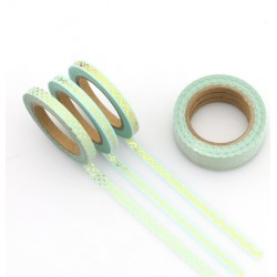 Masking Tape Foil Tape - Trio fin - Mint impressions or