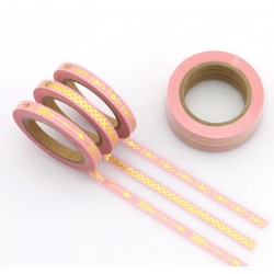 Masking Tape Foil Tape - Trio fin - Rose impressions or