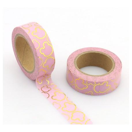 Masking Tape Foil Tape - Silhouette Mickey or fond rose