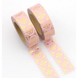 Masking Tape Foil Tape - Diamants or fond rose