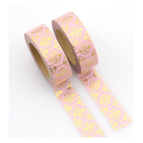 Masking Tape Foil Tape - Diamants or fond rose
